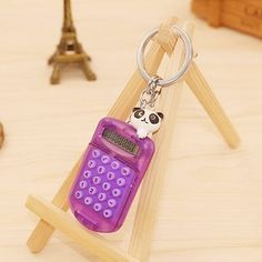 Sale 22% (6.79$) - Mini Electronic Calculator Keychain Convenient Carry Account Tool Key Ring