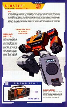 Transformer of the Day: Blaster