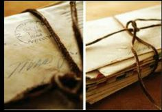 Special correspondence- tied and untied- read and reread!