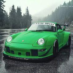 RWB 993 Porsche Photoshoot by Marcel Lech Porsche 993, Porsche Cars, Rauh Welt, Porsche Models, Yellow Car, Vintage Porsche, Super Sport Cars, Super Cars, Top Cars