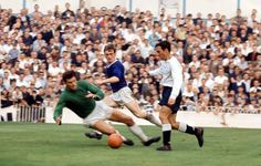 Jimmy Greaves in action for Spurs