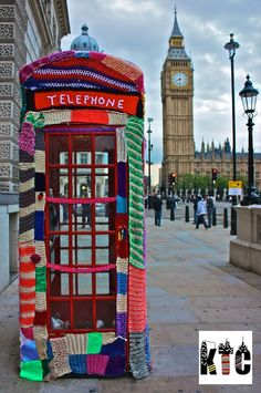 On my To-Do list: The handywork of Deadlyknitshade and the Knit The City folks... graffiti knitting