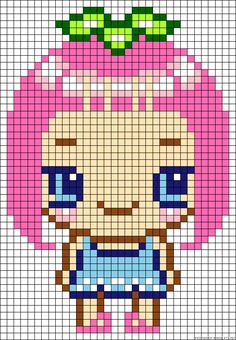 Girl perler bead pattern