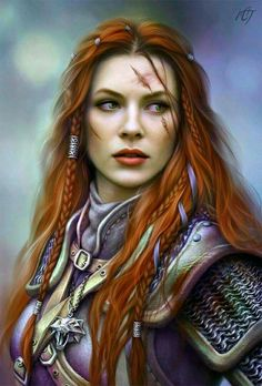 Ileana,very loose translation of Queens first born,,Given complete command by her Father, The King Viking Warrior Woman, Warrior Girl, Fantasy Warrior, Witcher Art, The Witcher, Fantasy Romance, Fantasy Art, Character Inspiration, Character Design