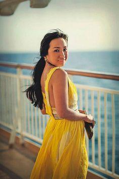 FP New Romantics Yellow Tie Dye Maxi style pic on Free People