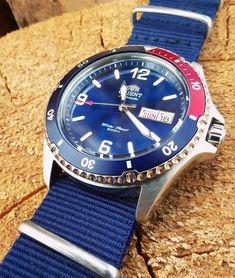 [Orient] Mako II w/ Pepsi Bezel : Watches Best Looking Watches, Pocket Watches, Wrist Watches, Orient Watch, Watch Companies, Pepsi, Seiko, Chronograph, Omega Watch