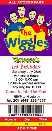 Wiggles Invitation