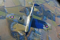Spitfire Mk XVI taken by Richard Paver. Ww2 Fighter Planes, Fighter Aircraft, Fighter Jets, Ww2 Aircraft, Military Aircraft, Spitfire Supermarine, The Spitfires, Ww2 Pictures, Aircraft Design