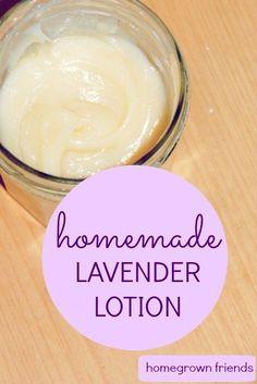 Homemade Lavender Lotion