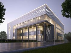 Best of Office Building Architecture Facade Designs - House & Living Factory Architecture, Office Building Architecture, Industrial Architecture, Building Exterior, Building Facade, Concept Architecture, Facade Architecture, Residential Architecture, Building Elevation