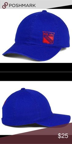 New York Rangers old time hockey women's hat Ladies will be able to stay warm and in style with the New York Rangers Old Time Hockey NHL Women's Quick Stick Adjustable Hat. When cheering for the New York Rangers or out and about, fans can adjust the cap easily to fit their hair style or preferred snugness. The team logo is included on the front side.  Color: Royalblue Material: Made of 100% Cotton, Woven Washed Departments:  Adjustable Primary Logo:  Raised Embroidery Letter on Front Middle…