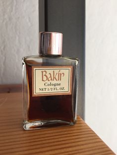 Discontinued Bakir Cologne Perfume 1/2 OZ Vintage by PinVintage