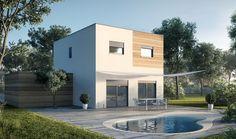 Maisons M2 : des constructions personnalisées Exterior Color Palette, Exterior Colors, Modern House Plans, Prefab Homes, Custom Design, House Design, Mansions, Architecture, House Styles