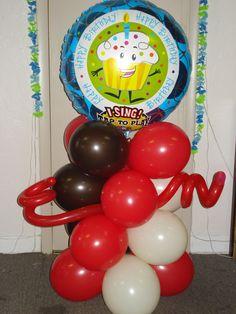 Singing balloon mini column