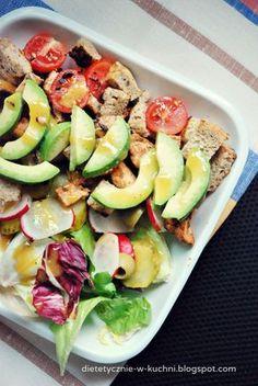 Blog z dietetycznymi, zdrowymi przepisami opisanymi wartościami odżywczymi. Pasta Salad, Cobb Salad, Good Food, Yummy Food, Potato Salad, Food To Make, Salads, Food And Drink, Menu