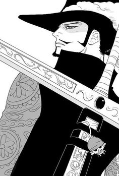 Dracule Mihawk - One Piece. Is that a small zoro I see? One Piece Anime, One Piece 1, Roronoa Zoro, Me Me Me Anime, Anime Guys, Manga Anime, Anime Art, One Piece Wallpaper Iphone, Mobile Wallpaper
