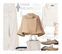 """Cool Neutrals..."" by unamiradaatuarmario ❤ liked on Polyvore featuring Marni, Fendi, Burberry, Skagen, Valentino, Chloé and neutrals"