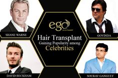 #HairTransplant Gaining Popularity among #celebrities. #ACTOR #BANGALORE Visit: www.goego.in