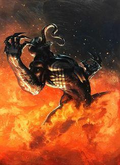 Venom by Gabrielle Dell'Otto Marvel Comic Books, Marvel Art, Comic Books Art, Symbiotes Marvel, Samurai, Venom Art, Ultimate Marvel, Batman Artwork, Marvel Venom