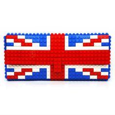 British flag clutch purse made with LEGO® bricks FREE by agabag