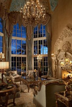 Simmons and Saray Interiors - Grand Mansions, Castles & Luxury Homes Tuscan Design, Tuscan Style, Luxury Interior, Interior And Exterior, Interior Design, Beautiful Space, Beautiful Homes, Beautiful Life, Palaces