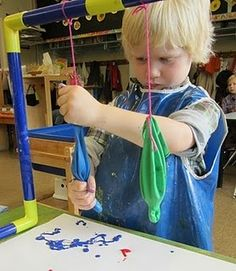 StrongStart: Udder Painting for a farm unit? using latex gloves or big balloons. this will be messy! Farm Unit, Farm Activities, Farm Crafts, Creative Curriculum, Farm Theme, Early Childhood Education, Preschool Crafts, Preschool Painting, Painting Activities