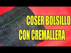 Tutorial: Bolsillo con cremallera - YouTube