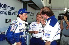 Ayrton Senna / David Brown / Adrian Newey (Williams-Renault). San Marino GP, Imola, Practice, 1994. #F1