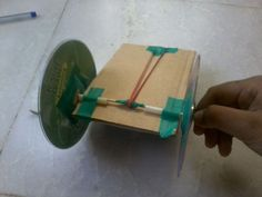 How to make a simple pull-back car(rubber band powered)