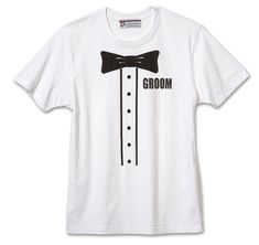 Groom Tuxedo T-Shirt that may be given to the groom as a fun wedding gift. Tuxedo T Shirt, Groom Tuxedo, Wedding Gifts For Parents, Best Wedding Gifts, Wedding Stuff, Wedding Ideas, Brides Maid Shirts, Brides Maid Proposal, Bridal Shirts