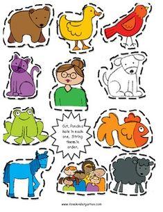 Brown Bear, Brown Bear Kindergarten Unit by ilovekindergarten Bear Activities Preschool, Retelling Activities, Preschool Colors, Preschool Classroom, Book Activities, Literacy Bags, Kindergarten Units, Bear Crafts, Kids Daycare