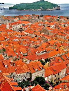 Red roof city of Dubrovnik