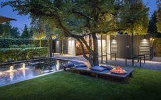 Avondshoot exclusieve tuin met spectaculair verlichtingsplan. Tuin- ontwerp & Tuinaanleg door tuin- architectenbureau & hoveniersbedrijf Martin Veltkamp.