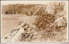 Guernsey - Moulin Huet from the Peastacks, Guernsey, c.1930 - Norman Grut RP Postcard