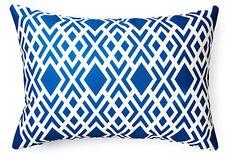 Geometric 14x20 Outdoor Pillow, Blue on OneKingsLane.com