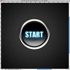 Photoshop Quick Tip: Light Effect Text Button