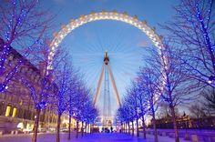 blue, christmas lights, ferris wheel, nice dream, roda gigante