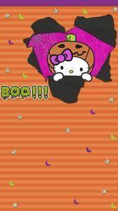 Lock Screen Wallpaper Iphone, Halloween Wallpaper Iphone, Holiday Wallpaper, Halloween Backgrounds, Cellphone Wallpaper, Best Iphone Wallpapers, Cute Wallpapers, Hello Kitty Halloween, Hello Kitty Art