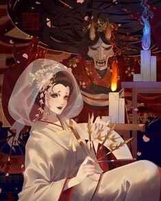 I love asian art and culture I want to collect everything I like! Dream Anime, Character Art, Character Design, Gold Skin, V Games, Identity Art, Slayer Anime, Japan Art, Anime Art