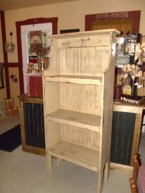 Primitive Shelf Cupboard w/ shaker pegs  Tags: Stars and Stitches Primitives