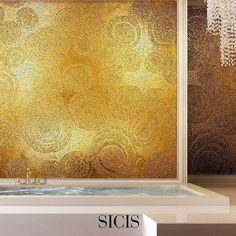 #mindenmozaik #everythingismosaic #artistic #muveszi #art #kezmuves #mozaik #mosaic #gold #sicis #arany  @sicis_me: Fancy Gold 24K #ihavethisthingwithwalls #italy #ravenna  #24k #artistic #design #bathtub #interior #architecture #luxury #luxurylife