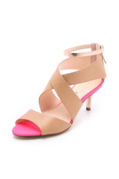 neutral, neon and shine (and a low heel - good for being on my feet all day!)
