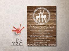 Rustikale Hochzeit Einladung druckbare Herbst Winter von lipamea