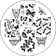 # 20791 $1.99 Various Butterfly Nail Art Stamping Template Image Plate BORN PRETTY BP74 - BornPrettyStore.com -(๑ •ω • ๑)☆ #coupon 'NEW10' = 10%OFF & FREE shipping! #BornPrettyStore ☆