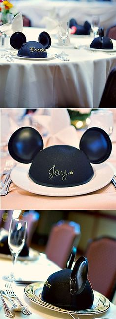 mickey mouse ear escort cards/favors! ahhhhh! #disney #wedding