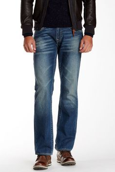 True Religion Mens Basic Straight Leg Jean with Flap pockets Size 32 NWT  #TrueReligion #ClassicStraightLeg