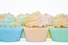 Rainbow Cupcake from Sian's Little Cakery, Grantham Lincolnshire. Colored Sugar, Rainbow Cupcakes, Cupcake Flavors, Cake Makers, Colorful Cakes, Vanilla Cupcakes, Desserts, Recipes, Food
