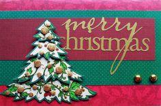 Merry Xmas - Cartão de Natal criado e produzido pelo Ateliê do Vlady
