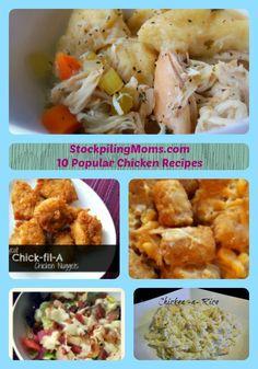 10 Chicken Recipes
