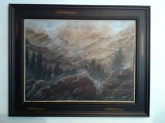 """Original acrylic painting by Ronda Wiebe. Titled """"The Paths of the Dead"""""""